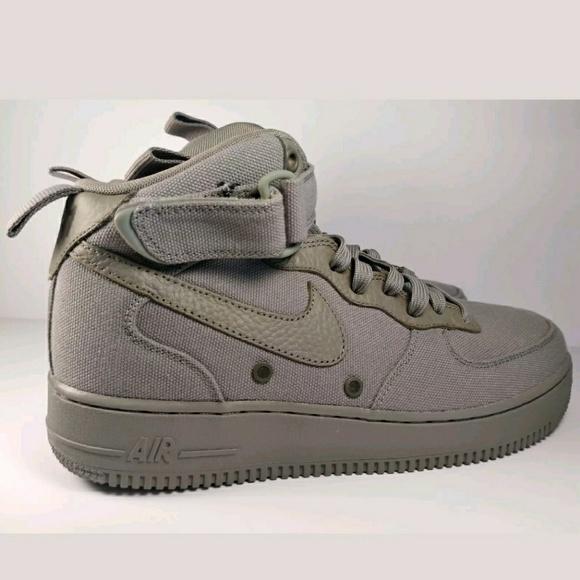 dceafd9904a Nike Air Force One Mid  07 Canvas Dark Stucco. M 5ada666761ca10c246c9099d